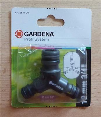 """Gardena® Y- PS-Y-Stück Übergang / 3fach Verteiler 2x1/2"""" und 1x3/4"""" (7299#"""
