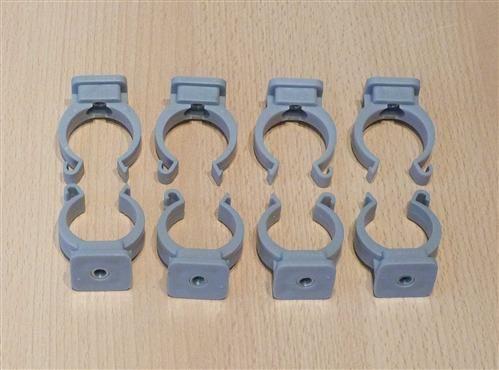 Rohrclips grau 8 Stück Durchmesser 32 mm (6484#