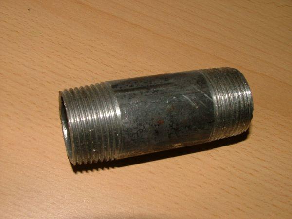 """Rohrdoppelnippel schwarz AG/AG 3/8"""" x 40 mm (2050#"""
