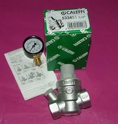 """Caleffi Druckminderer 3/4"""" incl.Manometer(533451)radial 0-10bar (5696#"""