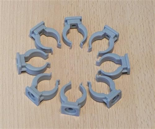 Rohrclips grau 8 Stück Durchmesser 20 mm (6474#