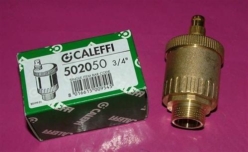 """Caleffi Schnellentlüfter Minical 3/4"""" AG Messing Art.502050 (5697#"""