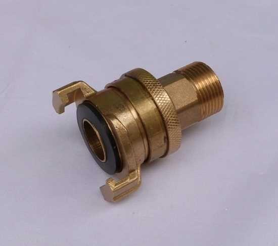 """Saug+Hochdruckkupplung mit 3/4"""" AG (5485#"""