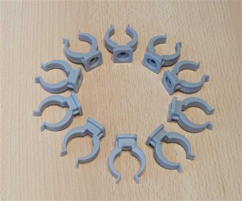 Rohrclips grau 10 Stück Durchmesser 20 mm (6475#