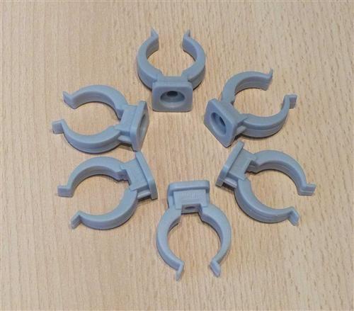 Rohrclips grau 6 Stück Durchmesser 25 mm (6478#