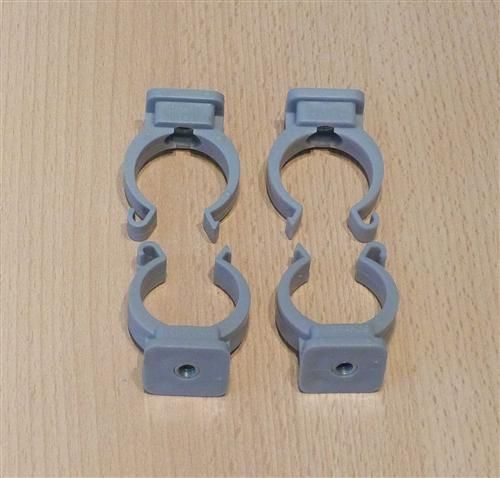 Rohrclips grau 4 Stück Durchmesser 32 mm (6482#