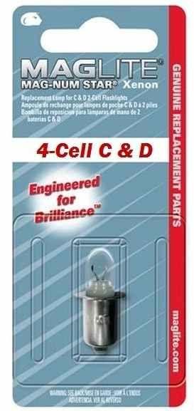 Mag Lite® 1 Stück Ersatzlampe für 4-CELL C&D XENON Taschenlampen (10294#