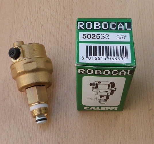 "Schnellentlüfter Caleffi Robocal 3/8"" incl. Ventil / 502533 (5200#"
