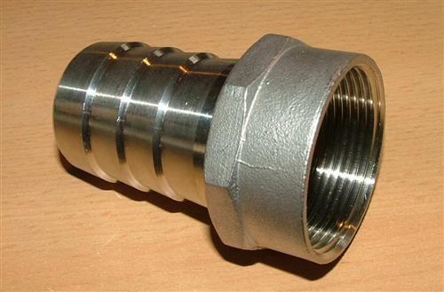 """Edelstahl-Schlauchstück (V2A) 3/4""""IG x 20,5 mm (5072#"""