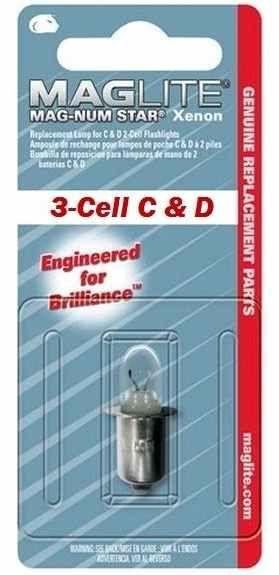 Mag Lite® 1 Stück Ersatzlampe für 3-CELL C & D XENON Taschenlampen (10292#