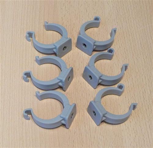 Rohrclips grau 6 Stück Durchmesser 40 mm (6488#
