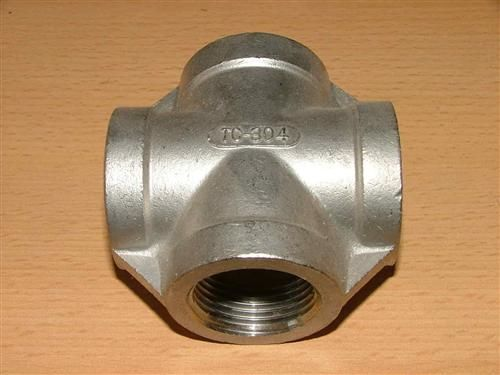 "Edelstahl-Kreuzstück (V2A) 1/2""; 4xIG (4205#"