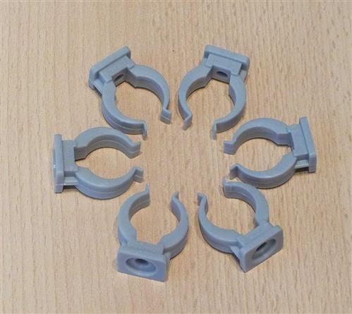 Rohrclips grau 6 Stück Durchmesser 20 mm (6473#