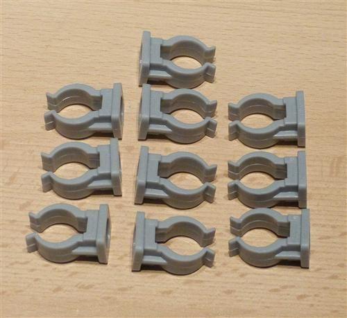 Rohrclips grau 10 Stück Durchmesser 16 mm (6505#