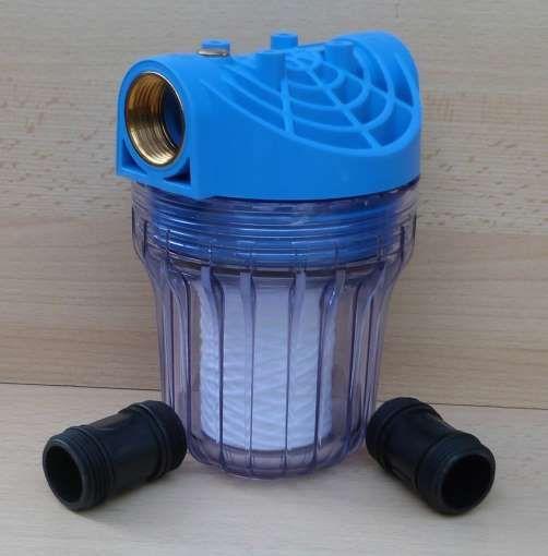"""Vorfilter für Pumpen Anschluß 1"""" mit Entlüftung kurze Bauform (9648#"""