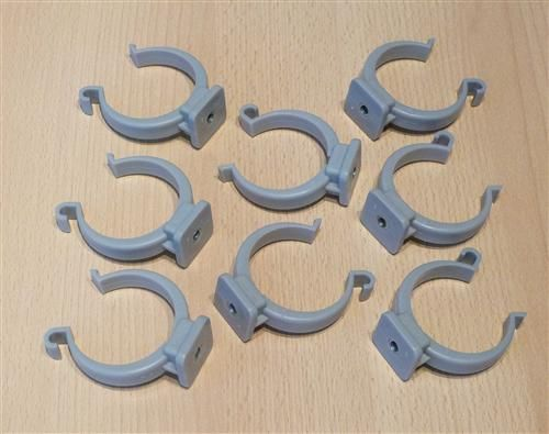 Rohrclips grau 8 Stück Durchmesser 50 mm (6494#