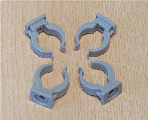 Rohrclips grau 4 Stück Durchmesser 20 mm (6472#