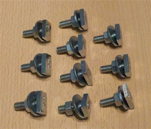 Hammerkopfbefestiger für Montageschiene M8x20 mm für Profil 27/18+28/30, 10Stck.