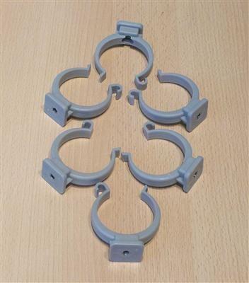 Rohrclips grau 6 Stück Durchmesser 50 mm (6493#