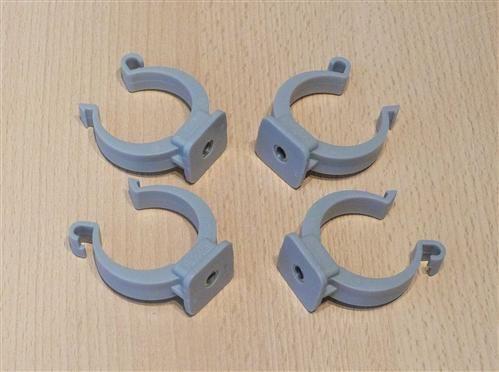 Rohrclips grau 4 Stück Durchmesser 40 mm (6487#