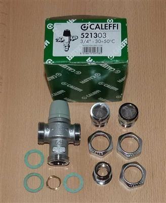 """Caleffi Thermomischer 3/4"""", 30-50°C Rückflv.+ Verschraubung (5868#"""