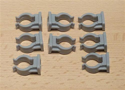 Rohrclips grau 8 Stück Durchmesser 16 mm (6504#