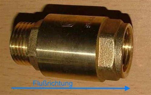 "Messingrückschlagventil 3/8"" AG zu IG (3861#"