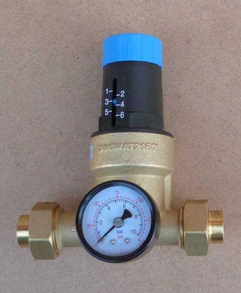 Druckminderer Watts 15mm Lötverschraubung + Manometer (6745#