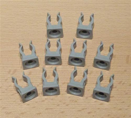 Rohrclips grau 10 Stück Durchmesser 12 mm (6500#