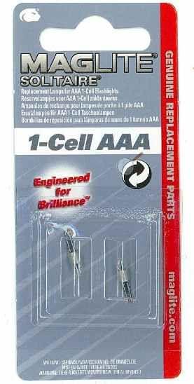 Mag Lite® 2 Stück Ersatzlampen für 1-Cell AAA Taschenlampen (10290#