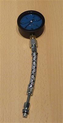 Pumpendruckmanometer glyzerin blau 0-25bar incl.Hochdruckschlauch(6693#