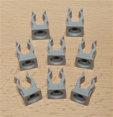 Rohrclips grau 8 Stück Durchmesser 12 mm (6499#