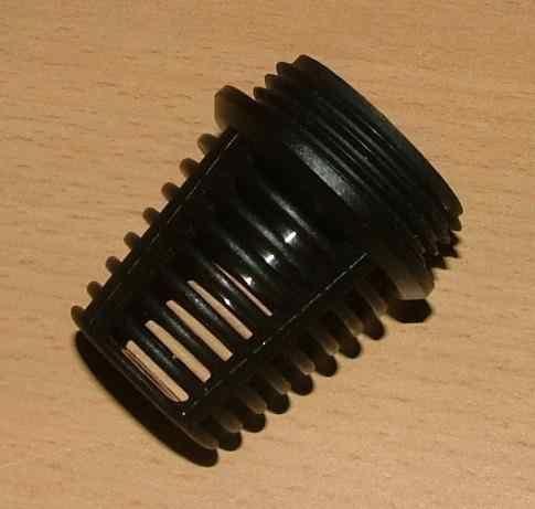 """Saugkorb Kunststoff schwarz 1"""" AG (2136#"""
