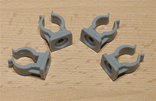 Rohrclips grau 4 Stück Durchmesser 16 mm (6502#