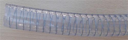 Hochwertiger Spiralsaugschlauch transparent mit Stahlspirale 1Zoll /1m (7288#