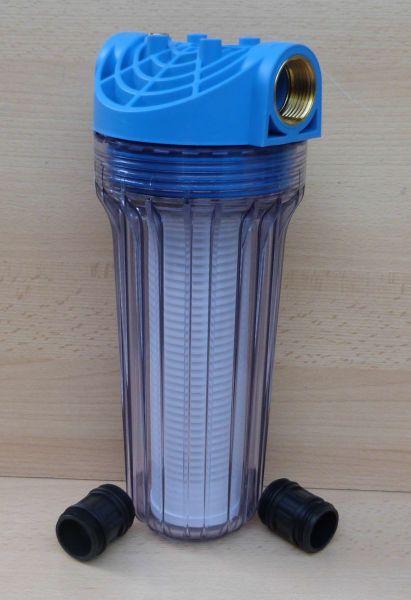 """Vorfilter für Pumpen Anschluß 1"""" mit Entlüftung lange Bauform (9649#"""