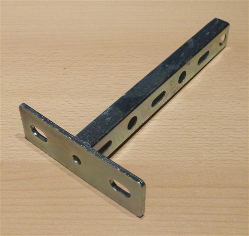 Schienenkonsole verzinkt, Profil 27/18mm x Länge 200, 1Stück (6832#