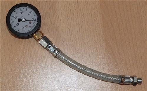 Vakuummanometer mit Glyzerin -1bar bis 0bar incl.Druckschlauch (6708#